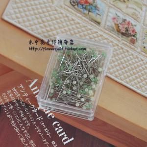 日本进口金龟LITTLE HOUSE(小木屋)极细黄绿短珠针  原价70