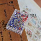 441062日本进口金龟LITTLE HOUSE红蓝短珠针 原价55