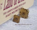 手缝式梅花型磁扣---古铜色